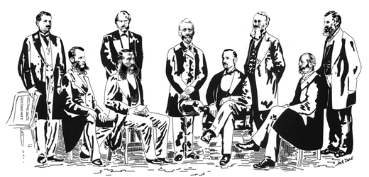 The Founding Fathers at the Meeting - January 3, 1867