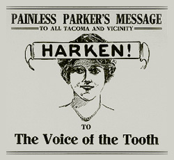 "The Tacoma Times (1916). ""Painless Parker Dentistry Co."" - Creative Commons"